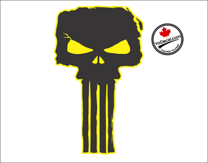 'Punisher Skull - Pair' Premium Vinyl Decal