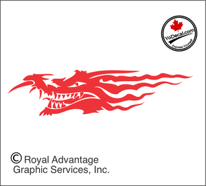 'Dragons Grin (Pair)' Premium Vinyl Decal