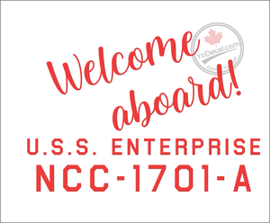 'Welcome Aboard NCC-1701-A' Premium Vinyl Decal
