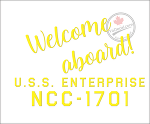 'Welcome Aboard NCC-1701' Premium Vinyl Decal