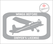 'Wings Before Driver's License - Power' Premium Vinyl Decal