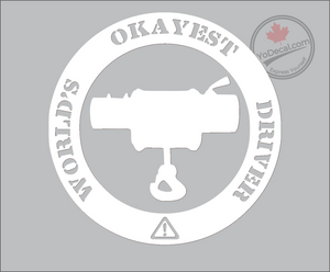 'World's Okayest Driver' Premium Vinyl Decal
