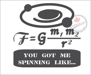 'You Got Me Spinning Like' Premium Vinyl Decal