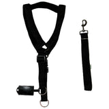 Gililai Nylon Foam Padded Harness Set For Dogs, Black