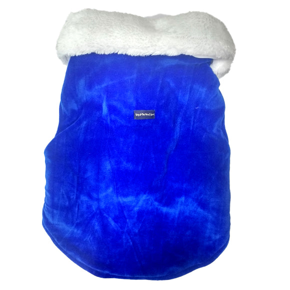 Egyptian Winter Jackets for Dogs, White & Blue