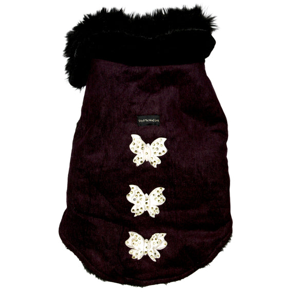 Butterfly Winter Jackets for Dogs, Purple