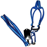 Woof Strip Harness Set For Dogs, Blue