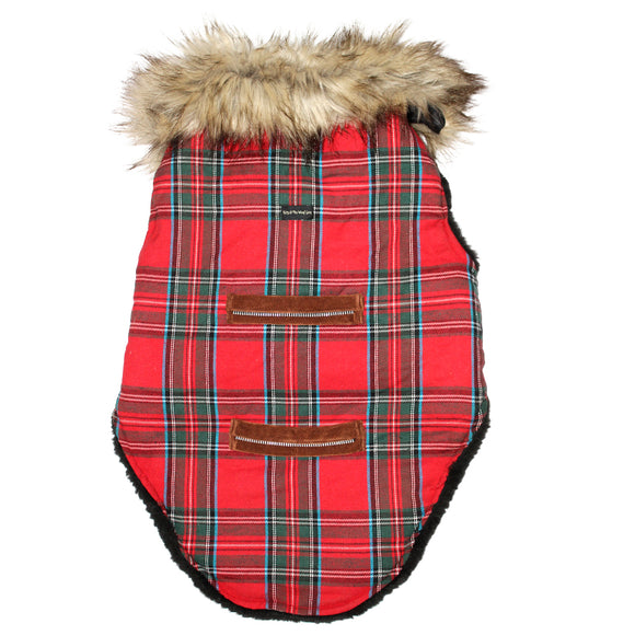 Red Checkers Winter Jackets for Dogs