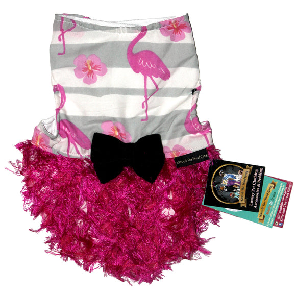 Party Dress for Dogs, Egret & Flower-XOXOtails