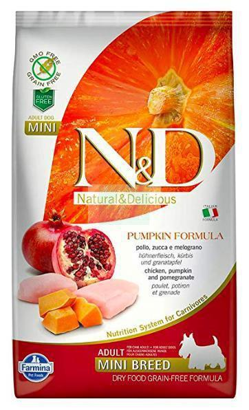 Farmina N&D Pumpkin GRAIN FREE CHICKEN & POMEGRANATE ADULT MINI Dog Dry Food-Farmina-XOXOtails