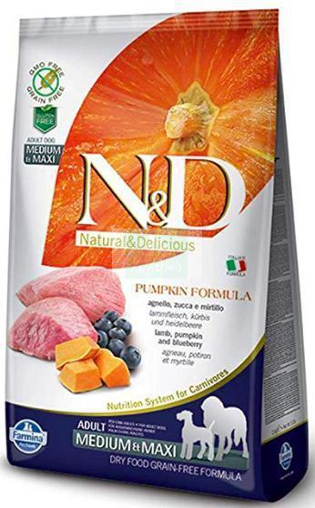 Farmina N&D Pumpkin GRAIN FREE LAMB & BLUEBERRY ADULT MEDIUM & MAXI Dog Dry Food-Farmina-XOXOtails