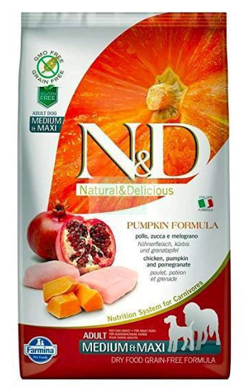 Farmina N&D Pumpkin GRAIN FREE CHICKEN & POMEGRANATE ADULT MEDIUM & MAXI Dog Dry Food-Farmina-XOXOtails