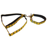 Cross Checkers Leash & Collar Set for Dog, Yellow