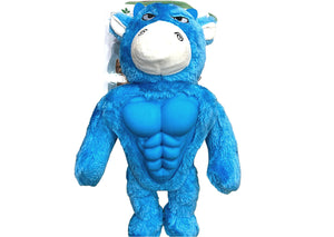 Blue Monster with Six pack Abs Dog Toy