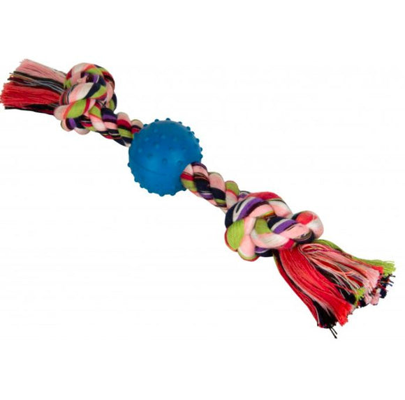 Studded Ball with Thick Chew Rope Toy for Dogs-XOXOtails
