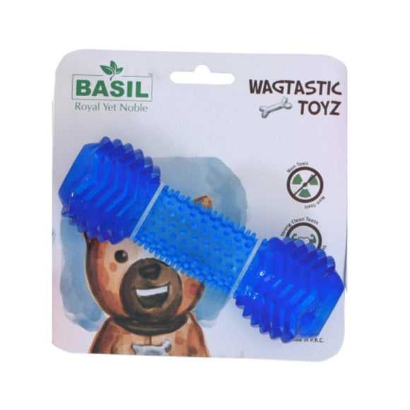 Basil TPR Dumbell Toy with Treat Hole-Basil-XOXOtails