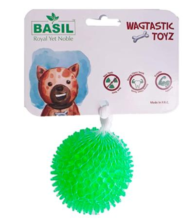 Basil Spiked Squeaky Ball Toy-Basil-XOXOtails