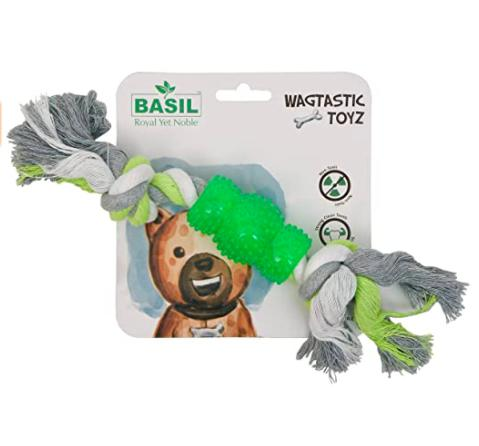 Basil TPR Cotton Rope Toy-Basil-XOXOtails