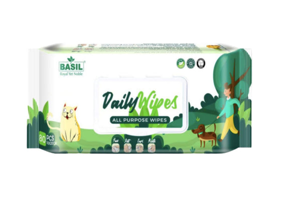 Basil All Natural Pet Cleaning Wipes 80 pcs-Basil-XOXOtails