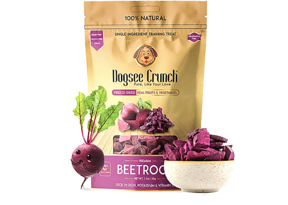 Dogsee Crunch Freeze Dried BEETROOT Dog Treats-Dogsee Chew-XOXOtails