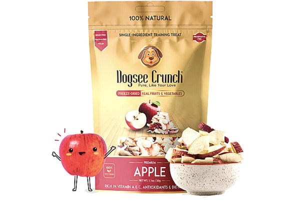Dogsee Crunch Freeze Dried APPLE Dog Treats-Dogsee Chew-XOXOtails