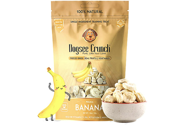 Dogsee Crunch Freeze Dried BANANA Dog Treats-Dogsee Chew-XOXOtails