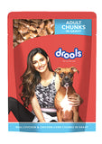 Drools Adult Wet Dog Food, Real Chicken and Chicken Liver Chunks in Gravy, 150 G-Drools-XOXOtails
