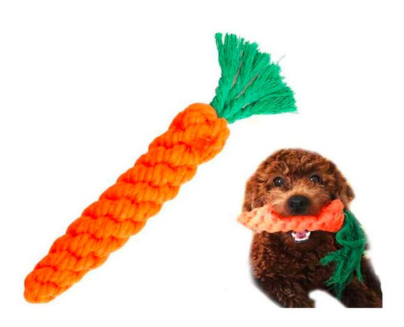 Chewable Knotted CARROT Rope Toy-Emily-XOXOtails