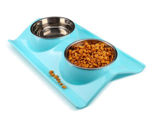 Designer WAVE 2 in 1 Food Bowl for Puppies & Cats-Emily-XOXOtails