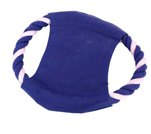 Interactive Frisbee cum Tug Toy for Dogs, BLUE-Emily-XOXOtails
