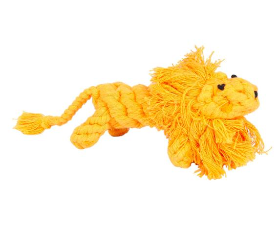 Braided Lion Rope Toy-Emily-XOXOtails