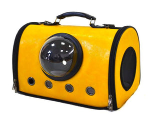 Leather Touch Airline Approved Pet Carrier, YELLOW-Emily-XOXOtails