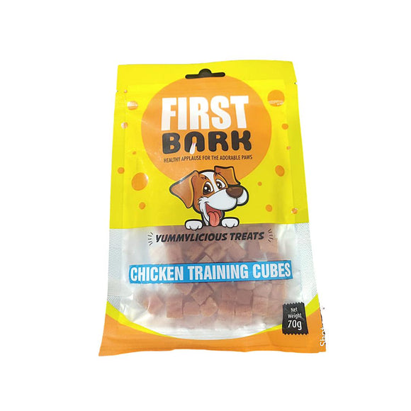 First Bark Chicken Training Cubes 70 G-First Bark-XOXOtails