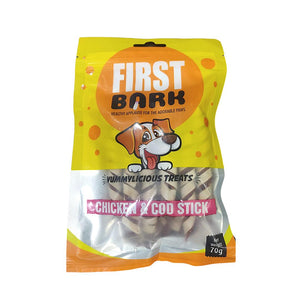 First Bark Chicken & COD Stick 70 G-First Bark-XOXOtails