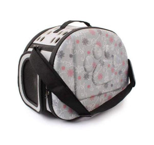 Foldable Pet Carrier for Cat & Puppy, GREY-Emily-XOXOtails