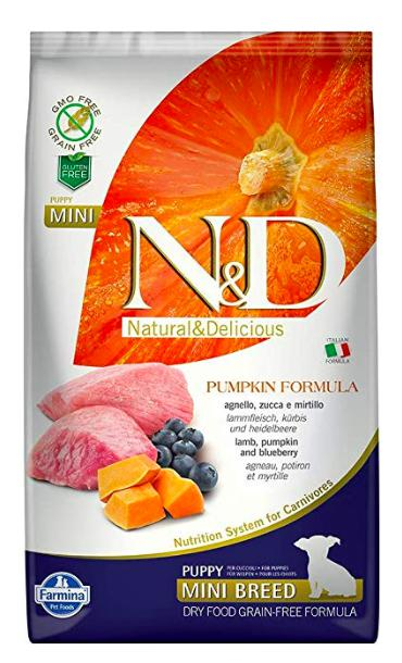 Farmina N&D Pumpkin GRAIN FREE LAMB & BLUEBERRY PUPPY MINI Dog Dry Food-Farmina-XOXOtails