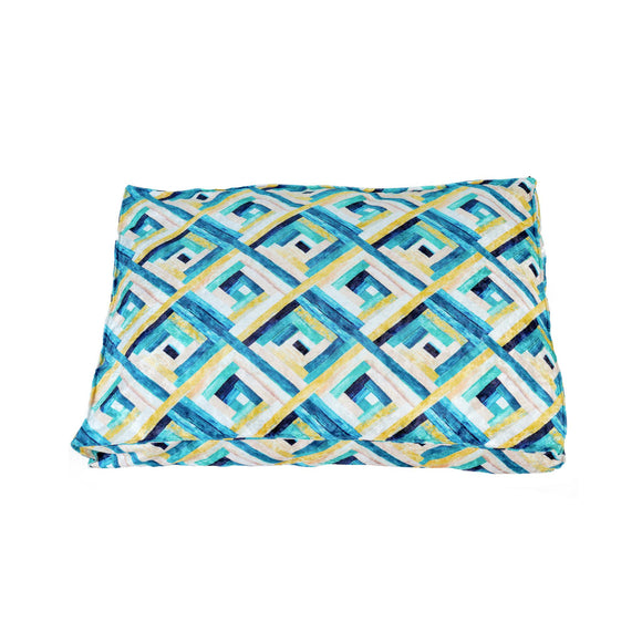 Bella Rectangle Flat Bed, Green Mosaic-XOXOtails-XOXOtails