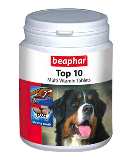 Beaphar Top-10 Dog Supplement, 60 Tablets-Beaphar-XOXOtails