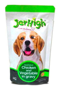 JerHigh CHICKEN & VEGETABLES in Gravy 120 G-Jerhigh-XOXOtails