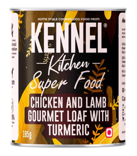 Kennel Kitchen Super Food Chicken & Lamb Gourmet Loaf with Turmeric, 185G-Kennel Kitchen-XOXOtails