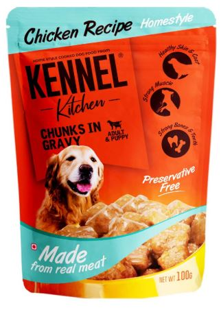 Kennel Kitchen Chicken Chunks in Gravy Dog Food, 100 g-Kennel Kitchen-XOXOtails