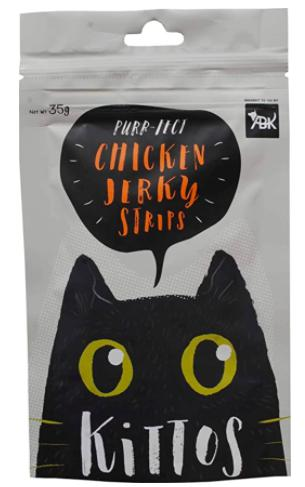 Kittos CHICKEN JERKY Strips 35 G-Kittos-XOXOtails