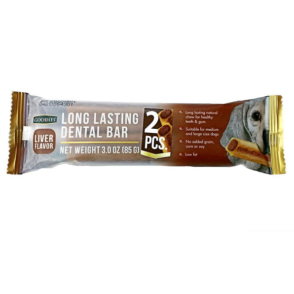 Goodies Long Lasting Dental Bar Liver Flavor Dog Treat