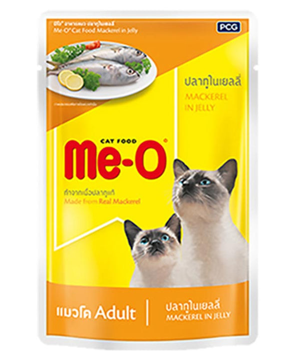 Me-O Mackerel In Jelly Adult Cat Food Topper