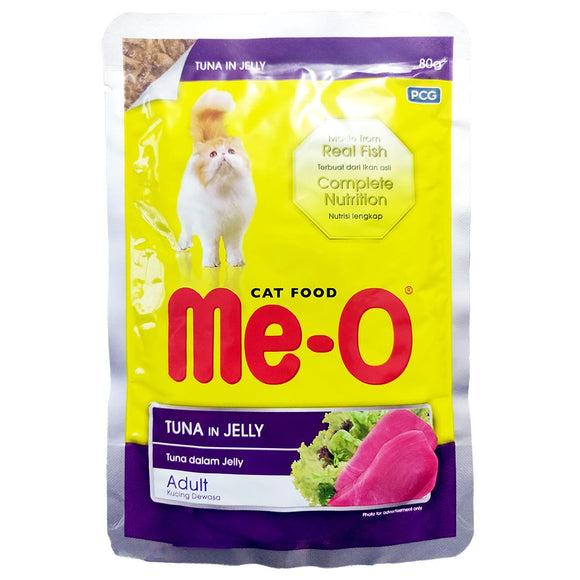 Me-O Tuna In Jelly Adult Cat Food Topper-XOXOtails