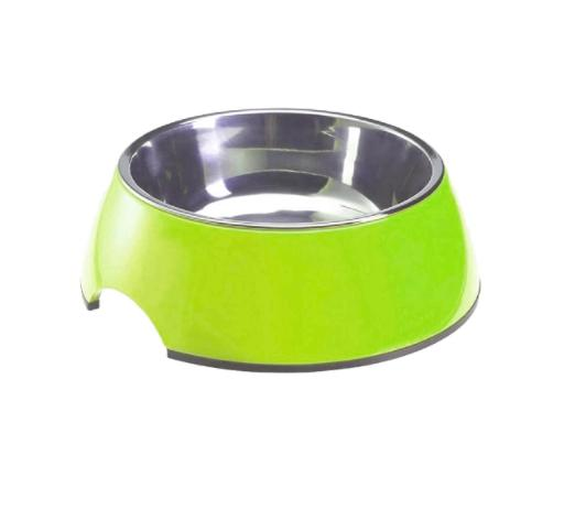 Standard Melamine & Stainless Steel LIME Bowl-Smarty Pet-XOXOtails