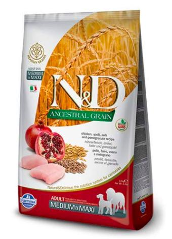 Farmina N&D LOW GRAIN CHICKEN & POMEGRANATE ADULT MEDIUM & MAXI Dog Dry Food-Farmina-XOXOtails