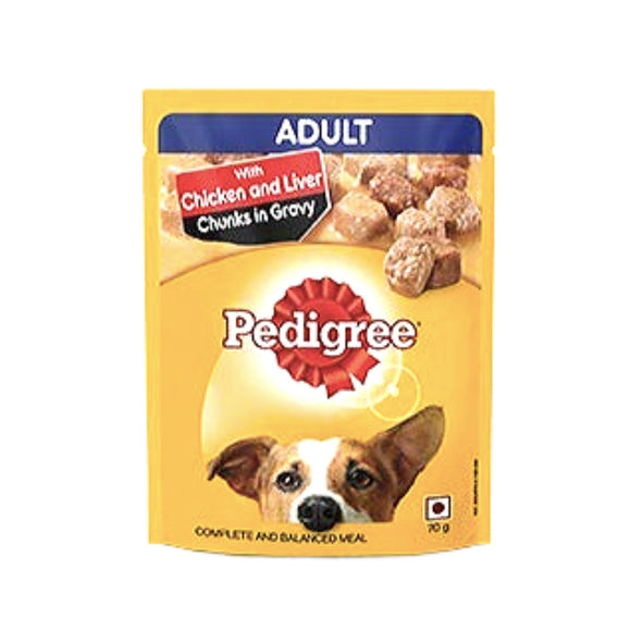 Pedigree ADULT CHICKEN & LIVER Chunks in Gravy, 70 G-Pedigree-XOXOtails