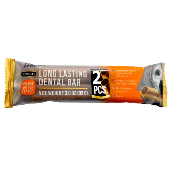Goodies Long Lasting Dental Bar Peanut Butter Flavor Dog Treat