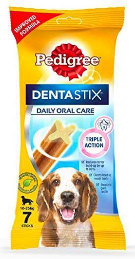 Pedigree DENTASTIX for Adult MEDIUM Breed Dogs – 180 G (7 Sticks)-Pedigree-XOXOtails